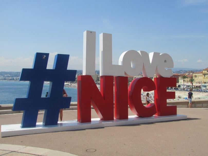 L'hastag I love Nice