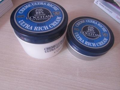 Crème et baume corps ultra riche beurre de karité de la game l'occitane