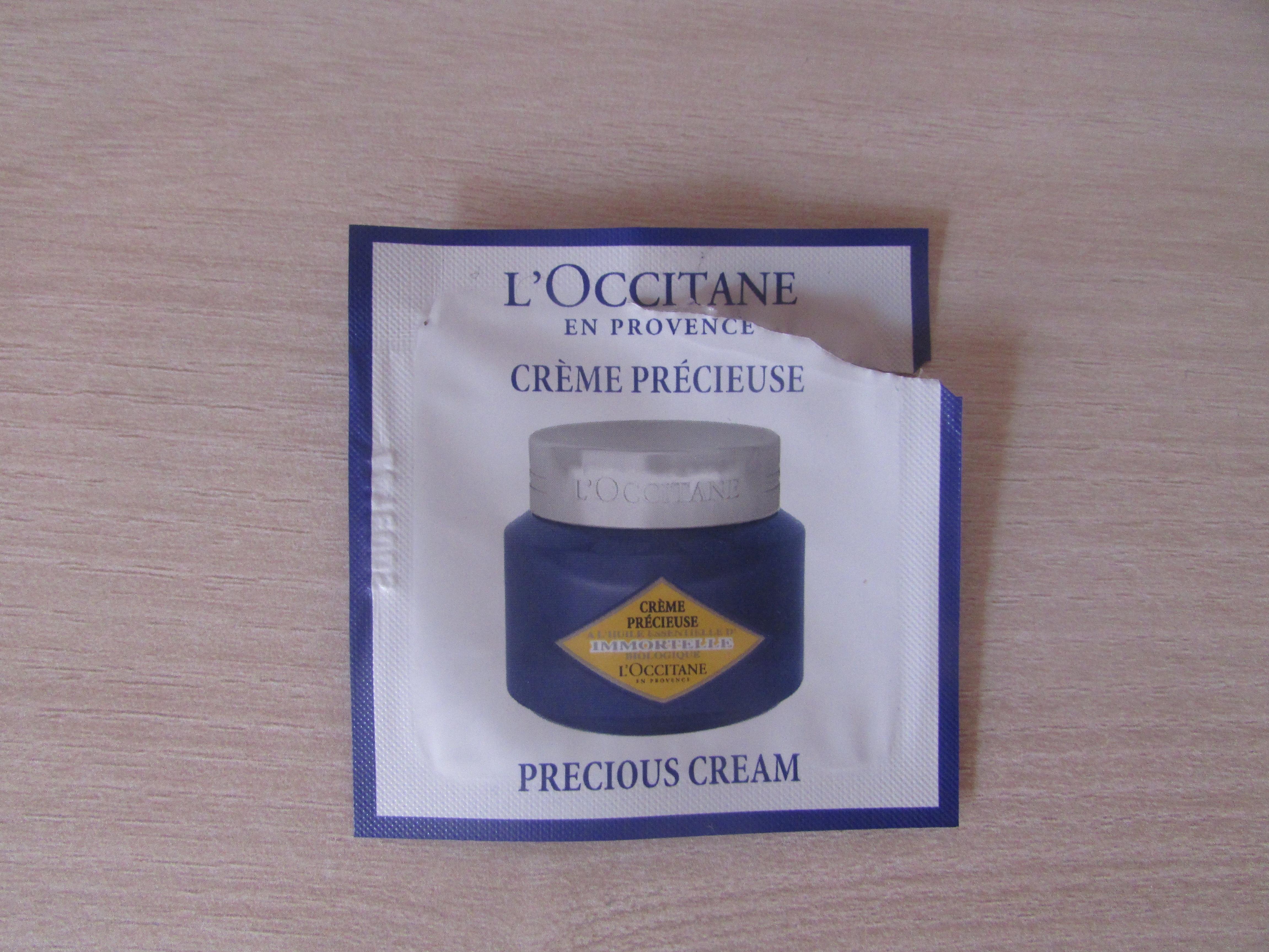 Crème immortel précieuse de la gamme l'occitane
