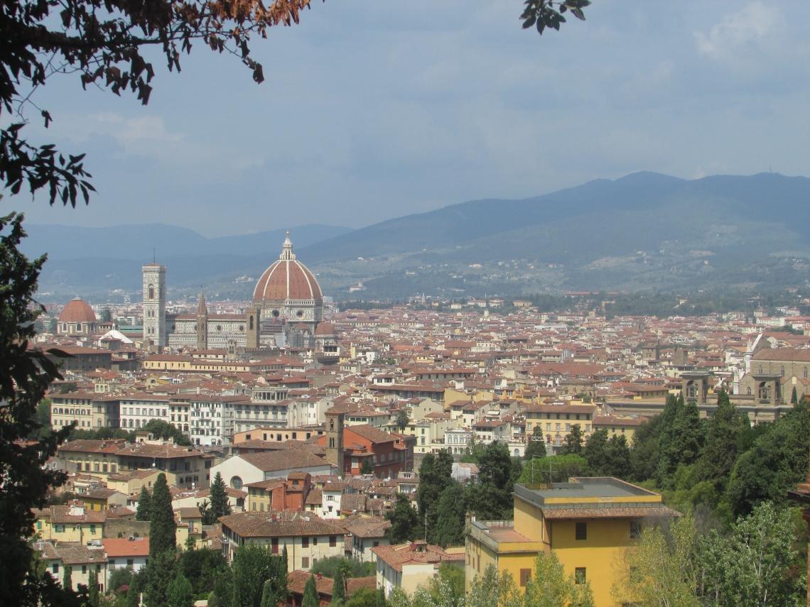Vu sur toute la ville de Florence