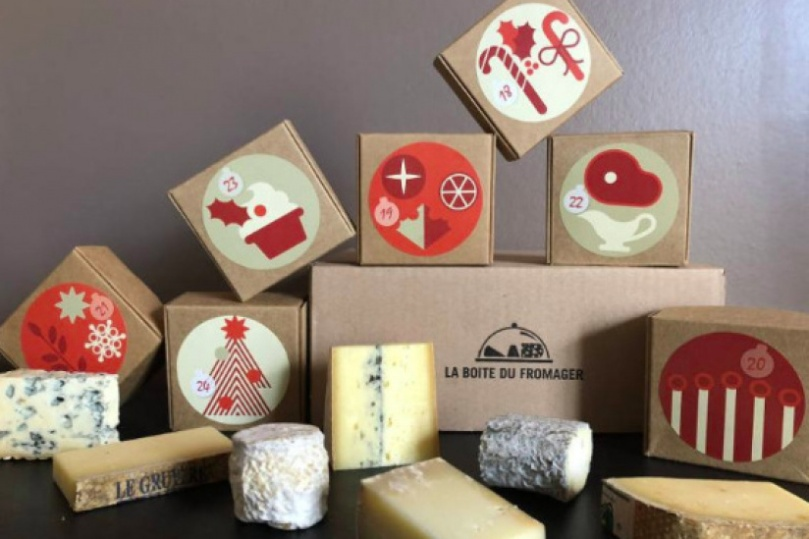 Calendrier de l'avent la boite du fromager