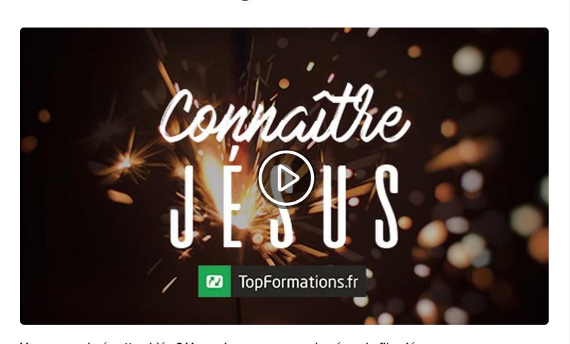 Formation connaître Jésus
