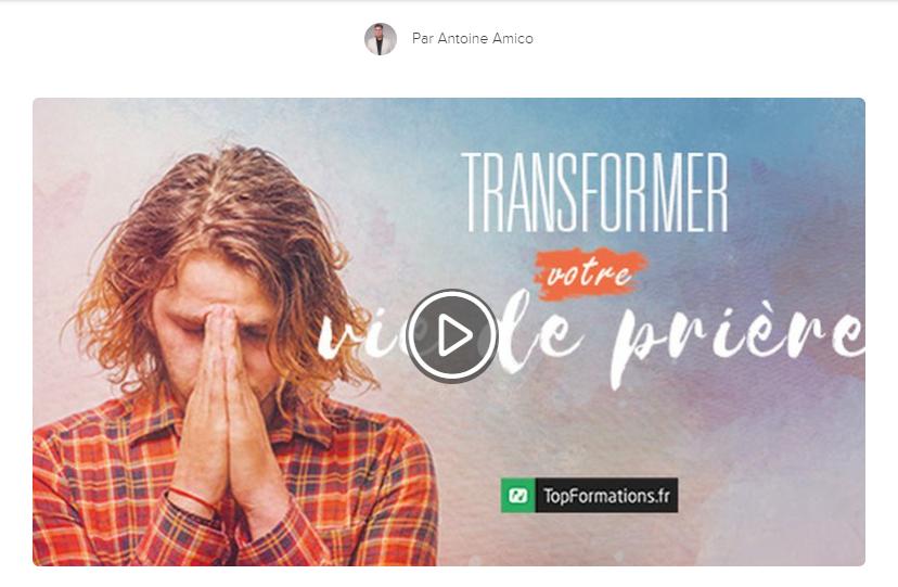 Transformez votre vie de prière