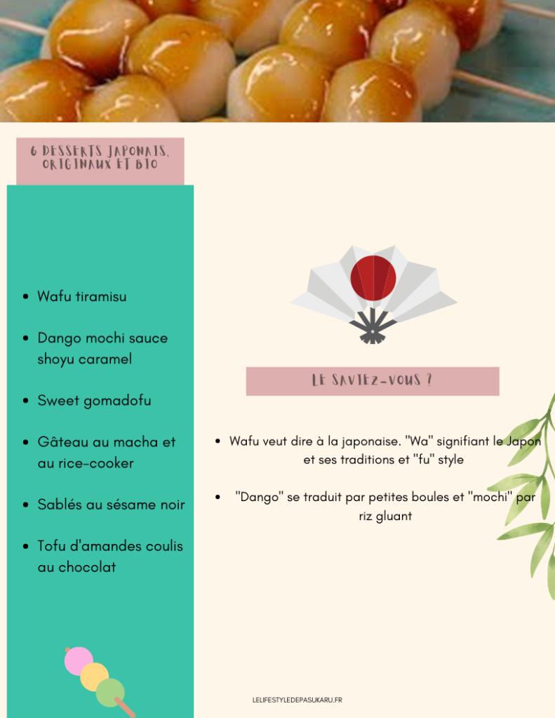 Résumé de l'article 6 desserts japonais, originaux et bio à tester