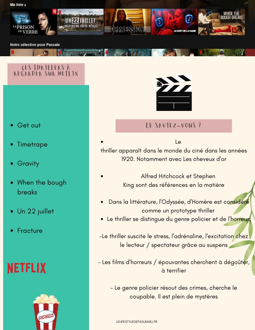 Résumé de l'article ces thrillers à regarder sur Netflix