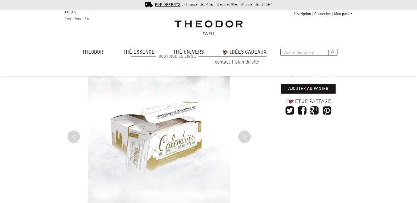 Calendrier de l'avent thé de Theodor