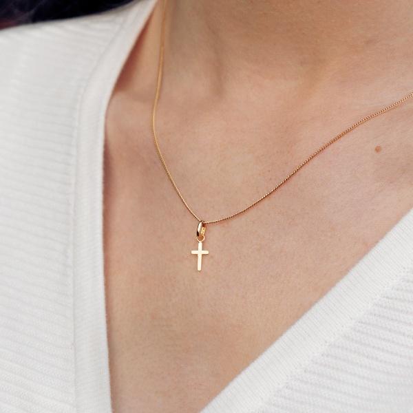 Pendentif en croix plaqué or
