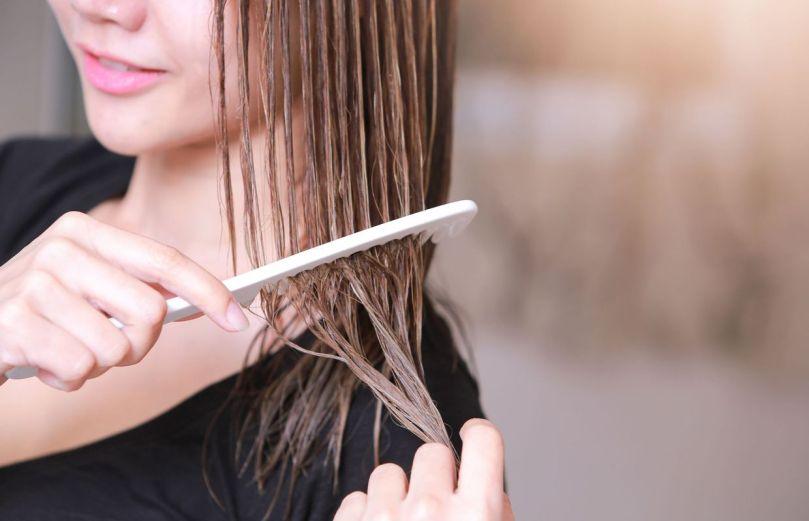 brosser ses cheveux mouillés